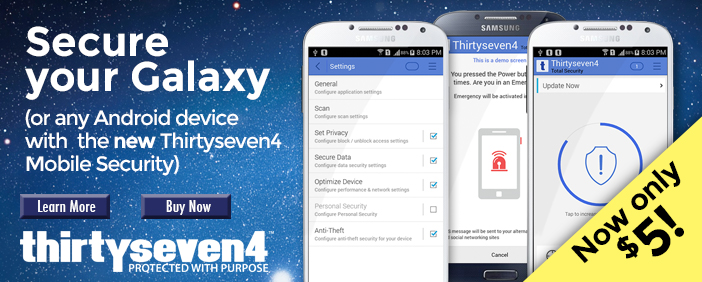 Download Thirtyseven4 Mobile Security for Android Today